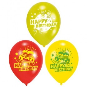 6 GLOBOS HAPPY BIRTHDAY