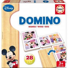 DOMINO MADERA MINNIE Y MICKEY
