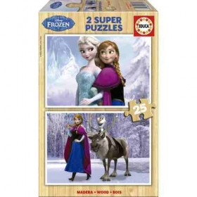 Puzzle 2x25 Frozen de EDUCA