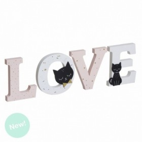 LETRAS MADERA CAT LOVER