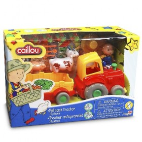 CAILLOU TRACTOR+ANIMALES