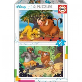 PUZZLE 2X20 DISNEY ANIMALS