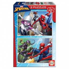 PUZZLE 2X48 SPIDERMAN