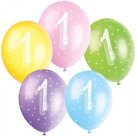 PACK 5 GLOBOS LATEX NUMEROS...