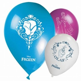 GLOBOS LATEX FROZEN (8 UNID)