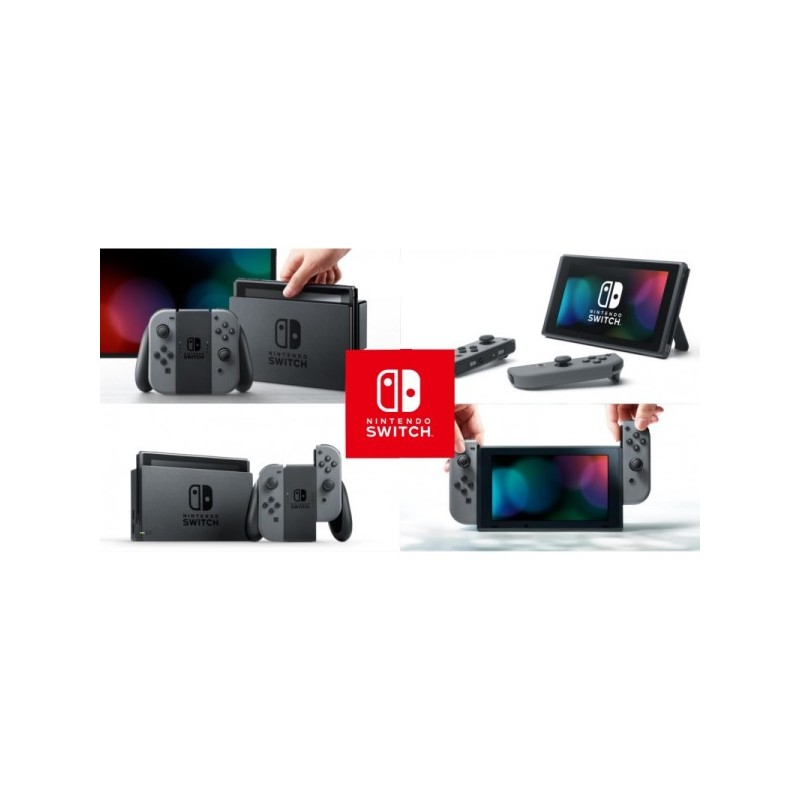 consola nintendo switch gris 32gb. Black Bedroom Furniture Sets. Home Design Ideas