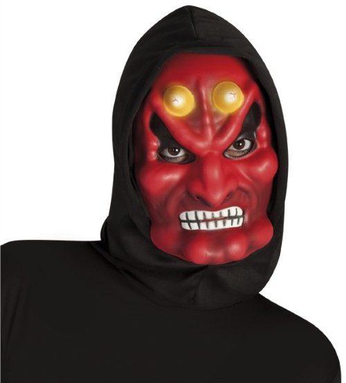 Máscara de demonio con capucha