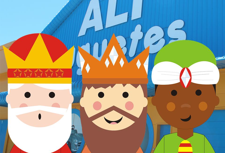 Los Reyes Magos visitan ALI Juguetes