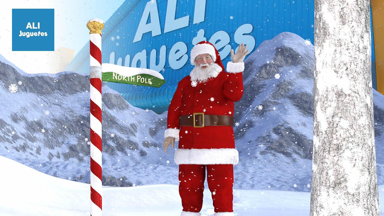 Papá Noel visita ALI Juguetes