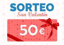 Sorteo de San Valentín: regalamos una tarjeta de 50€ para web o tienda