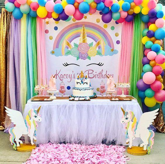 fiesta cumpleaños tematica unicornios