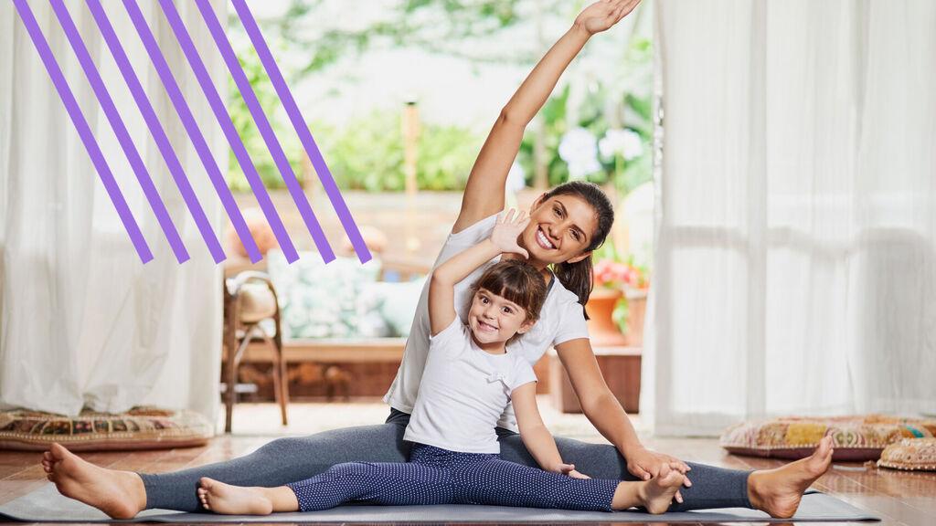 ejercicio en casa con niños